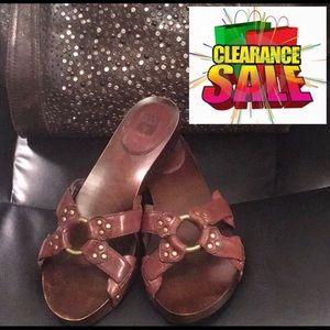 🔥Frye Ellie Sud Ring Harness Slide Sandals 9🤠👡